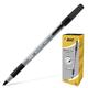 Ручка шариковая BIC «Round Stic Exact» (Франция), корпус серый, черные детали, толщина письма 0,35 мм, черная