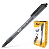 Ручка шариковая BIC автоматическая «Round Stic Clic» (Франция), корпус черный, толщина письма 0,4 мм, черная