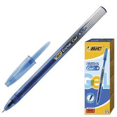 Ручка гелевая BIC «Cristal Gel+», корпус тонированный синий, узел 0,5 мм, линия 0,27 мм, синяя
