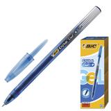 Ручка гелевая BIC «Cristal Gel+» (Франция), корпус синий, полупрозрачный, толщина письма 0,5 мм, синяя