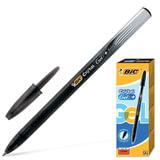 Ручка гелевая BIC «Cristal Gel+» (Франция), корпус черный, полупрозрачный, толщина письма 0,5 мм, черная