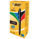 Ручка шариковая BIC автоматическая «4 Colours Pro» (Франция), 4 цвета, корпус черный, 0,4 мм, синий, черный, красный, зеленый