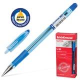 Ручка шариковая масляная ERICH KRAUSE «Ultra L-35», корпус тонированный, толщина письма 0,7 мм, рез. держ., синяя