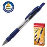 Ручка шариковая масляная ERICH KRAUSE автоматическая «Grapho Plus», корпус тонированный синий, 0,5 мм, резиновый грип, синяя