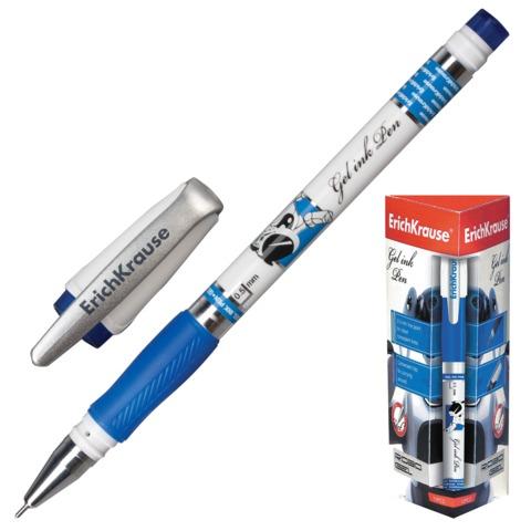 """Ручка гелевая ERICH KRAUSE """"Robogel"""", корпус с печатью, игольчатый узел 0,5 мм, линия 0,4 мм, синяя"""