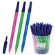 Ручка шариковая СТАММ «049», корпус флуоресцентный, синяя