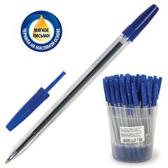 Ручка шариковая масляная СТАММ «Оптима», корпус прозрачный, узел 1,2 мм, линия 0,7 мм, синяя