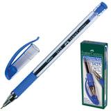 Ручка шариковая FABER-CASTELL «1425», корпус прозрачный, резиновый держатель, толщина письма 0,7 мм, синяя