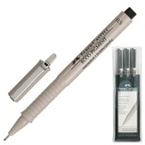 Ручки капиллярные FABER-CASTELL «Ecco Pigment», набор 3 шт., 0,3; 0,5; 0,7 мм, пластиковая упаковка, черные