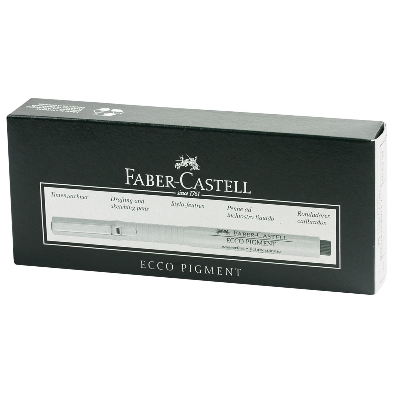 9bf58ca47a2f ... Ручка капиллярная FABER-CASTELL  laquo Ecco Pigment raquo , корпус  серый, толщина письма