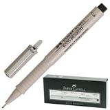 Ручка капиллярная FABER-CASTELL «Ecco Pigment», толщина письма 0,6 мм, корпус серый, черная