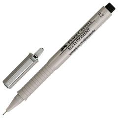 Ручка капиллярная FABER-CASTELL «Ecco Pigment», корпус серый, толщина письма 0,7 мм, черная