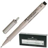 Ручка капиллярная FABER-CASTELL «Ecco Pigment», толщина письма 0,8 мм, корпус серый, черная