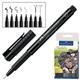 Ручки капиллярные FABER-CASTELL, набор 8 шт., «Manga», художественные, 3 ширины линии, 5 оттенков серого