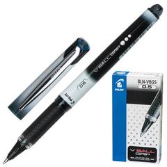 Ручка-роллер PILOT «V-Ball Grip», корпус с печатью, узел 0,5 мм, линия 0,3 мм, резиновый упор, черная