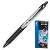 Ручка-роллер PILOT автоматическая BLRT-VB5 «VBall», корпус черно-серый, толщина письма 0,25 мм, черная