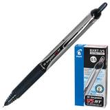 """Ручка-роллер PILOT автоматическая BXRT-V5 """"Hitecpoint"""", корпус черно-серый, толщина письма 0,25 мм, черная"""