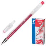 """Ручка гелевая PILOT BL-G1-5T """"Extra Fine G-1"""", корпус прозрачный, толщина письма 0,3 мм, красная"""