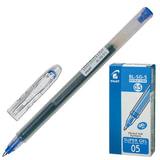 Ручка гелевая PILOT BL-SG-5 «Super Gel», корпус прозрачный, толщина письма 0,3 мм, синяя