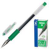 Ручка гелевая PILOT BLGP-G1-5 «G-1 GRIP», с резиновым упором, толщина письма 0,3 мм, зеленая