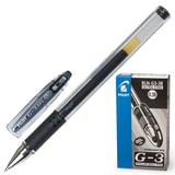 Ручка гелевая PILOT BLN-G3-38 «G-1», корпус прозрачный, с резиновым упором, толщина письма 0,2 мм, черная