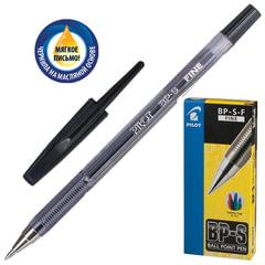 Ручка шариковая масляная PILOT «BP-S», корпус тонированный черный, узел 0,7 мм, линия 0,32 мм, черная