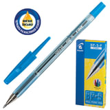Ручка шариковая масляная PILOT BP-S-F, корпус прозрачный, граненый, толщина письма 0,32 мм, синяя
