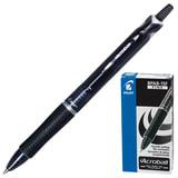 """Ручка шариковая PILOT автоматическая, BPAB-15F """"Acroball"""", корпус черный, с резиновым упором, 0,28 мм, черная"""