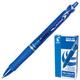 """Ручка шариковая PILOT автоматическая, BPAB-15F """"Acroball"""", корпус синий, с резиновым упором, 0,28 мм, синяя"""