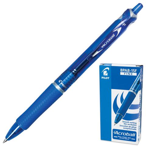 """Ручка шариковая автоматическая PILOT """"Acroball"""", корпус тонированный синий, узел 0,7 мм, линия 0,28 мм, синяя"""