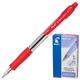 Ручка шариковая PILOT автоматическая, BPGP-10R-F «Super Grip», корпус красный, с резиновым упором, 0,32 мм, красная