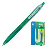 Ручка шариковая PILOT автоматическая, BPRG-10R-F «Rex Grip», корпус зеленый, резиновый упор, толщина письма 0,32 мм, зеленая