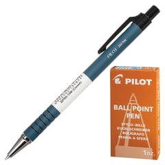 Ручка шариковая масляная автоматическая PILOT, корпус синий, узел 0,7 мм, линия 0,32 мм, синяя