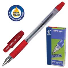 Ручка шариковая масляная PILOT «BPS-GP», корпус прозрачный, узел 0,7 мм, линия 0,32 мм, красная