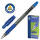 Ручка шариковая масляная PILOT BPS-GP-M, корпус синий, с резиновым упором, 0,4 мм, синяя
