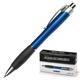 Ручка шариковая LACO (ЛАКО, Германия) автоматическая (PRK-001), корпус синий, резиновый держатель, синяя