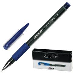 Ручка гелевая LACO (ЛАКО, Германия), корпус тонированный черный, узел 1 мм, линия 0,5 мм, синяя