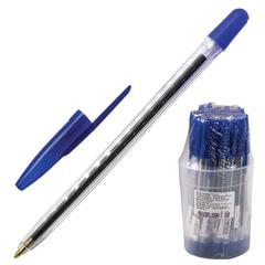 Ручка шариковая СТАММ «111», корпус прозрачный, узел 1,2 мм, линия письма 1 мм, синяя