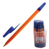 Ручка шариковая СТАММ «511», корпус оранжевый, толщина письма 1 мм, синяя
