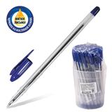 Ручка шариковая масляная СТАММ «VeGa», корпус прозрачный, толщина письма 0,7 мм, синяя