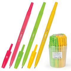Ручка шариковая СТАММ «Тропик», корпус ассорти, узел 1,2 мм, линия письма 1 мм, синяя