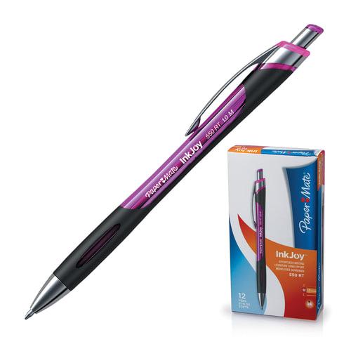 """Ручка шариковая PAPER MATE автоматическая """"InkJoy 550 RT"""", корпус розовый, 1,0 мм, розовая"""