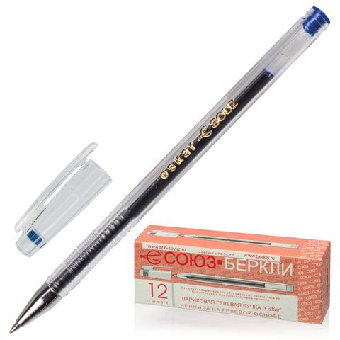 """Ручка гелевая СОЮЗ """"Oskar"""", корпус прозрачный, толщина письма 0,7 мм, синяя"""