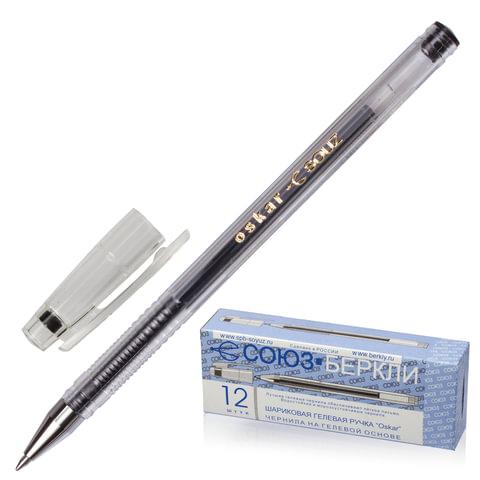 Ручка гелевая СОЮЗ «Oskar», корпус прозрачный, толщина письма 0,7 мм, черная