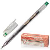 Ручка гелевая СОЮЗ «Oskar», корпус прозрачный, толщина письма 0,7 мм, зеленая