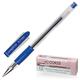Ручка гелевая СОЮЗ «Comfort», корпус прозрачный, резиновый держатель, толщина письма 0,7 мм, синяя