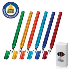Ручка шариковая масляная СОЮЗ «Tetra», корпус ассорти, игольчатый узел 0,7 мм, линия 0,3 мм, синяя