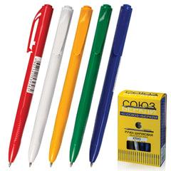 Ручка шариковая автоматическая СОЮЗ «Клио», корпус ассорти, узел 0,7 мм, линия 0,35 мм, синяя