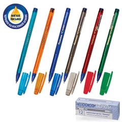 Ручка шариковая масляная СОЮЗ «Gamma», корпус ассорти, игольчатый узел 0,7 мм, линия 0,3 мм, синяя