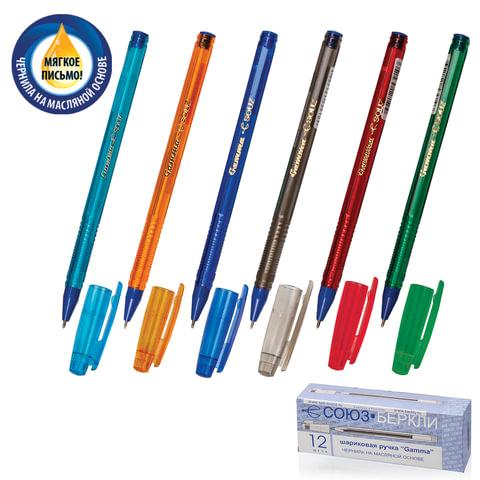Ручка шариковая масляная СОЮЗ «Gamma», корпус тонированный, игольчатый пишущий узел 0,7 мм, синяя